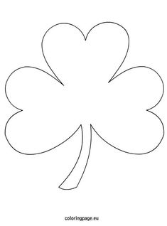 3 Leaf clover coloring page