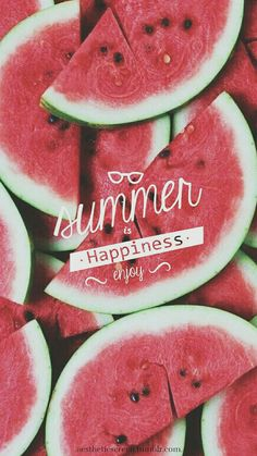 Summer watermelon wallpaper