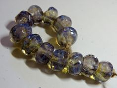 Lampwork Borosilicate Beads FOG Two Sisters by TwoSistersDesignss