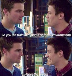 Arrow-Oliver Queen and Barry Allen (Stephen Amell and Grant Gustin) <--- lol stephens face at the end tho Arrow Quote, Arrow Cw, Arrow Oliver, Team Arrow, Stephen Amell Arrow, The Cw Shows, Dc Tv Shows, Fandoms Unite, Barry Allen Flash