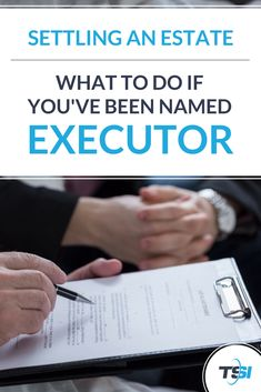 If you've been named executor and aren't sure how to proceed with settling your loved one's estate, we can help you sort through the process and tackle this difficult task step-by-step. Emergency Binder, Emergency Preparedness, Funeral Planning, Retirement Planning, Financial Information, Financial Tips, Senior Citizen Discounts, When Someone Dies, Folding Money