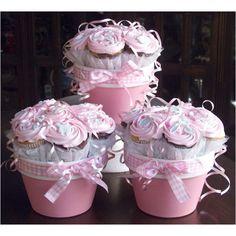 Mini cupcakes in a pot