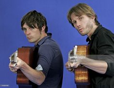 Picture shows Alex Kapranos (Right) and Nick McCarthy of Franz Ferdinand prior to their talk on songwriting at The Edinburgh International Book Festival, Edinburgh, Scotland.; 22th August 2006; Non Exclusive, World Rights;
