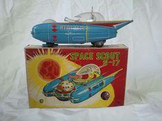 1963 Space Scout s 17 by Yanoman NMIB Japan Tin Space SHIP Vintage Toy