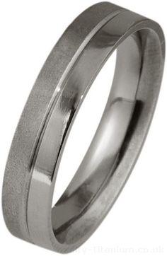 Ti2 Low Profile 4mm Contrast Titanium Ring