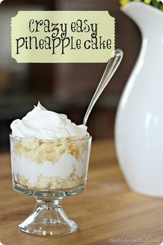 angel food cake and pineapple, easy dessert @ thriftydecorchick.com