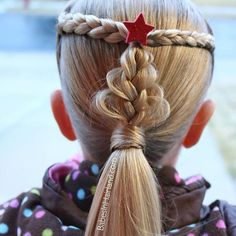 via Wind and bitter cold temps had us alter our Christmas Tree ?Loop Braid just a little. We made a mini one instead and she loved it! Don't forget to tag us in your Christmas hair creations! via Wind and bitter cold temps had us alter. Box Braids Hairstyles, Cute Hairstyles, Updo Hairstyle, Wedding Hairstyles, Different Hairstyles, Summer Hairstyles, Crazy Hair Days, Long Braids, Side Braids