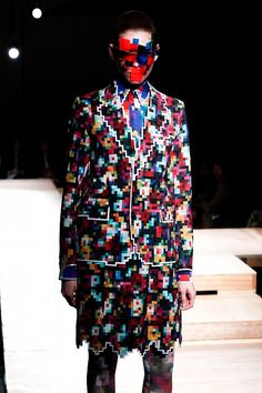 Pixelated fashion by Kushiniko Morinaga