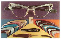 Miss Spectacles cats eye glasses, eyewear, glasses, interchangeable vintage glasses, rhinestone glasses, spectacles, vintage glasses, vintage spectacles
