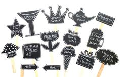 15 Chalkboard Photo Booth Props Speech by CreativeButterflyXOX, $34.95