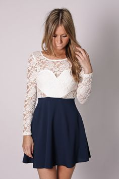 PRE ORDER unicorn lace detail tunic- navy/creme lace arrives 25th september