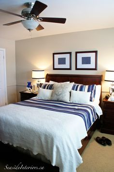 Simple tips to refresh a bedroom's style from www.seasideinteriors.ca