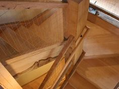 A Custom Box Winder Staircase Blends High-Finish Elemetns With Rough Heavy Timbers Winder Stairs, Bank Barn, Loft Staircase, Custom Boxes, 18th Century, Tiny House, Hardwood Floors, Stone, Home Decor
