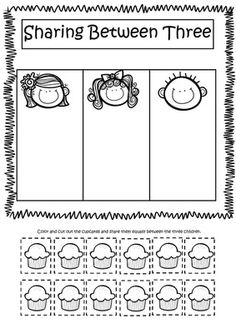 Equal Sharing Worksheets