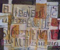 """Edwin Studer """"Constructivo El Presente"""" Collage y óleo sobre cartón 47 X 57 cms. http://portondesanpedro.com"""