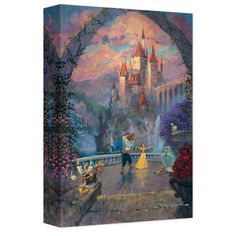 Celebrate the magic of Beauty and the Beast with this beautiful limited edition canvas print by artist James Coleman.