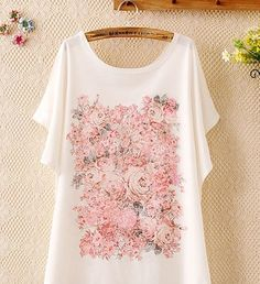 Floral White Top