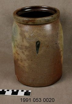 Missouri German stoneware crock made by Joseph Bayer    ca. 1885.