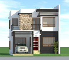 Exterior small home design ideas: philippines house design images 3 home . Zen House Design, Bungalow Haus Design, Duplex House Design, Design Living Room, House Design Photos, House Front Design, Bungalow Ideas, Modern Zen House, Modern Small House Design