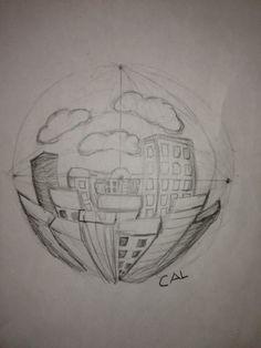Baldwinsville Christian Academy - Elementary Art high school studio art - 5 point perspective lesson