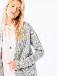 Długi sweter , Nowości, szary, MOHITO