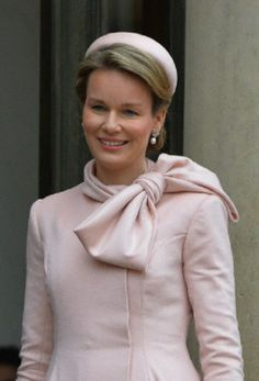 Queen Mathilde of Belgium at the Elysee Palace in Paris, France on 06 Feb 2014.