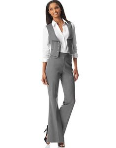 Striped Pant, Suits, Women, Business, Formal, Office Uniform, New ...