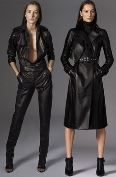 Leather that celebrates the modern side of femininity. David Koma for Mugler Pre-Fall 2015 at Moda Operandi