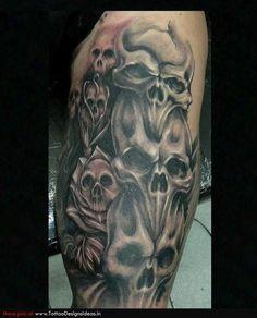 Skull Sleeve Tattoo Designs | Skull Tattoos