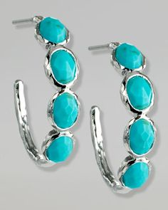 ASSAEL NEIMAN AND MARCUS DESIGNER JEWELRY | Modern Turquoise Earrings | Neiman Marcus