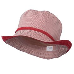 f5e758d42bbf3 UPF 50 Womens Bucket Hat with Ribbon Red White OSFM   Click on the image for