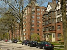 Moreland Courts Condominiums - Photo Gallery - Building Exteriors - East Tower and Tudor Buildings in Early Spring.