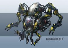 ArtStation - Submersible Mech, Tun Jie Foo