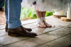 Barefoot Bride Lace Mismatched Colourful Wildflower Meadow Wedding Hush Venues Norfolk http://lighteningphotography.co.uk/ #wedding #Barefoot #Bride #Lace