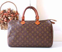 Louis Vuitton Monogram Speedy 35 handbag Authentic by hfvin
