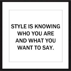 """I can't really label what my style is because it constantly changes but usually my style says """"Fuck you."""" In whatever shape or form. Xx"""