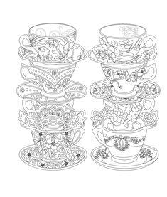 Elegant Tea Party Coloring Book | Coloring books, Tea parties and Teas