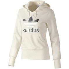 adidas hoodie white and gold