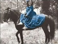 Eugenia Victoria riding side saddle (Bonny Blue Butler from Gone With The Wind)