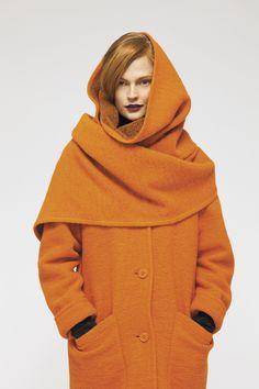 Fabulous orange coat. www.marimekko.com