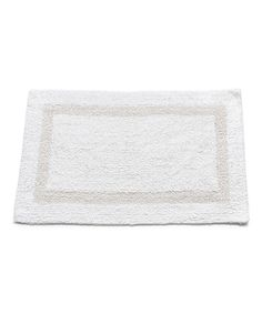 White Large Cotton Reversible Bath Mat