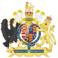 Coat of Arms of England (1554-1558), Queen Mary I & King Philip of Spain