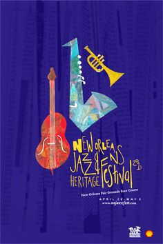 New Orleans Jazz & Heritage Festival Art Poster, 2013