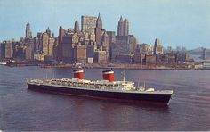 SS United States departing New York......