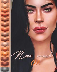 "Nose mask 01 at katverse "" sims 4 updates Nose Makeup, Skin Makeup, Sims 4 Cas, Sims Cc, Maxis, Nose Highlight, Play Sims 4, The Sims 4 Skin, Sims 4 Collections"