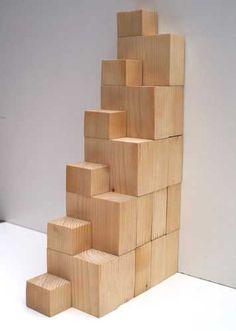 Raumspartreppe aus Holzelementen
