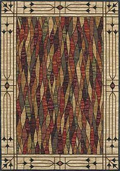 mission rugs arts and crafts   Mission style rug or Arts and Crafts Rug. Beautiful stained glass ...