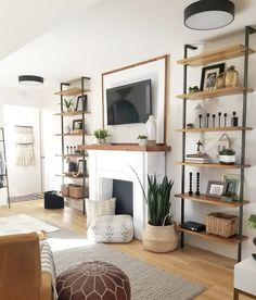 Cool shelves - not sure would work in our living room