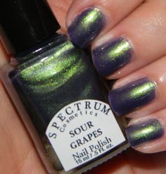 Sour G Duochrome Nail Polish Green To Purple Color Shift