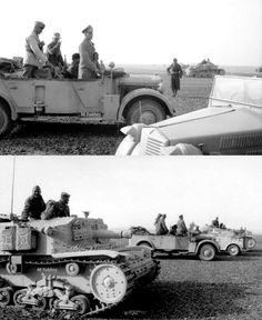 North Africa, Erwin Rommel with Italian troops. Erwin Rommel, Italian Army, Afrika Korps, North Africa, World War Ii, Troops, Military Vehicles, Wwii, German